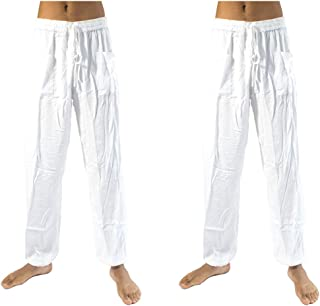 PIYOGA Men's Lounge and Bohemian Yoga Pants, Scrunched Bottom, Elastic Waist Stretches for Sizes M to XL (30-38)
