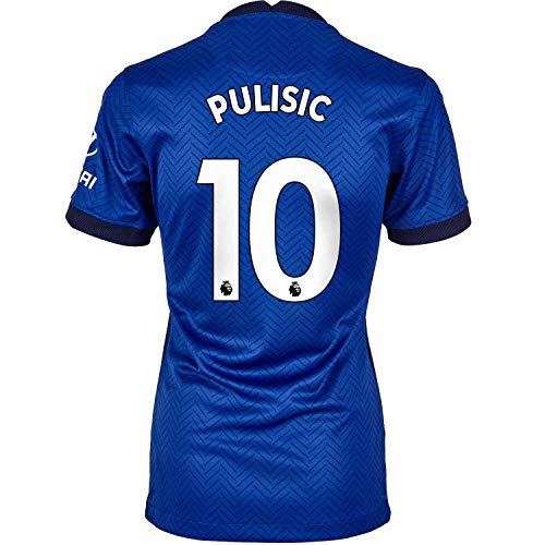 Soccer Kingdom Unlimited PULISIC #10 Chelsea Home Women's Jersey 20-21 (S) Blue