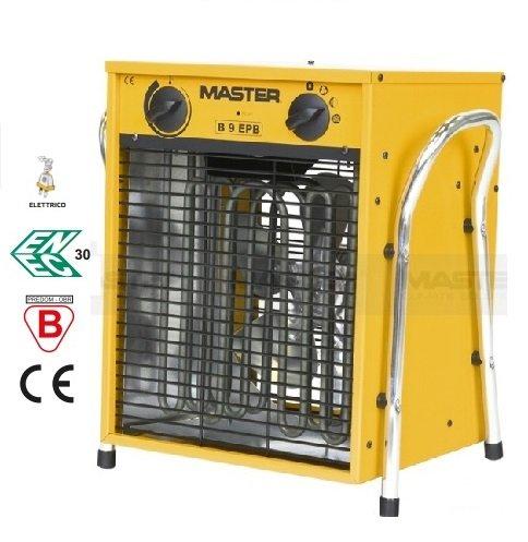 Master Elektro Heizlüfter B 9 EPB 9kW 400V 3 Heizstufen mit 1,8 Meter Kabel, gelb