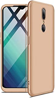 Case Oppo R11 360 Degrees Protective Cover + 2 Pieces Tempered Glass Film, 3 in1 Full Body Protection Bumper Hard Phone Case Ultra-Thin Skin Case for Oppo R11 (Gold)