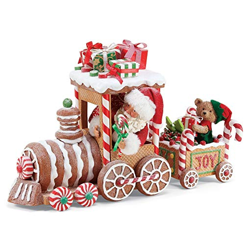 Department 56 Possible Dream Santa Christmas Traditions Gingerbread Train Figurine, 10.5 Inch, Multicolor
