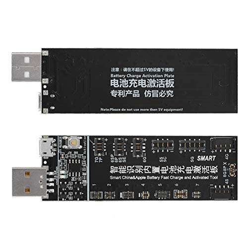 Guoshiy Tablero de activación de Carga de teléfono, Tablero de activación de batería de teléfono Estable, 3.7 * 1 en Negro para 4S, 4,5 5S, 5SE Huawei, OPPO, Vivo, MIUI, ZTE, MX