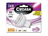Cegasa Bombillas LED con Luz Cálida 2700K GU10, 1 W, Blanco, 54x50x50 cm