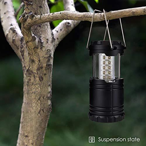 Aoliyn RU Pliable 30 LED Lampe De Camping Lanterne Portable Résistant À l'eau Lanternes De Camping en Plein Air Éclairage Main Lampe De Poche Lampe de Poche Rétractable d'urgence Poney