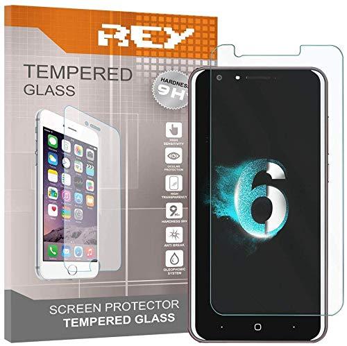 REY 3X Protector de Pantalla para DOOGEE Y6 / Y6c, Cristal Vidrio Templado Premium