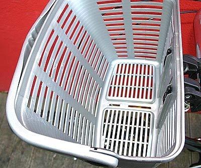 Bellelli Plaza Fahrradkorb Lenkerkorb Quick-Clip Halterung 12l, Farbe:Silber, Herstellernummer:40560010