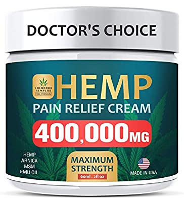 Pain Relief Cream - Maximum Strength, 400000 MG - Fast Relief from Pain, Ache, Arthritis & Inflammation - Made & 3rd Party Lab Tested in The USA from COLORADO LAB