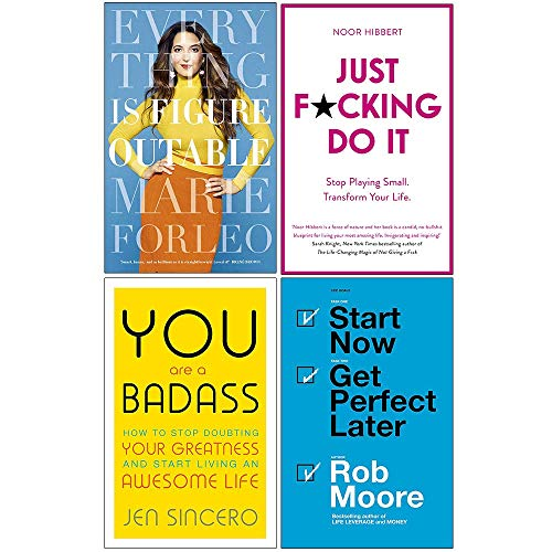 Everything is Figureoutable, Just F*cking Do It, You Are a Badass, Start Now Get Perfect Later 4 Books Collection Set
