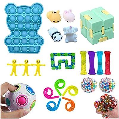 22 pcs Juguetes Sensoriales Antiestres,Fidget Toys Set Ideales para Aliviar el Estrés y la Ansiedad para TDAH,Autismo para Niños y Adultos de