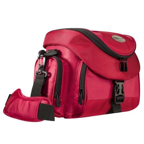 Mantona Premium - Bolsa para cámaras, Rojo y Negro