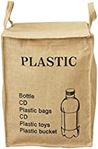 Jute Weave Recycling Bag Waste Bin Bags Basket for Home Kitchen Office - Natural Style Recycle Garbage Trash Sorting Bins ...