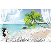 写真の壁紙3d効果パノラマ壁画海の風景リビングルーム大人の子供たちの寝室家の装飾壁のポスター-不織布_200x150cm-4パーツ