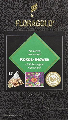 FLORAGOLD Pyramidenbeutel Kräutertee Kokos-Ingwer, 1er Pack (1 x 68 g)
