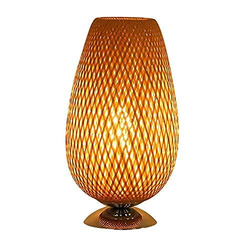 SYLOZ Hecho a Mano Rota Pantalla Colgante o Sombra Tabla, la cabecera de bambú Trenzado de Doble Piel, Natural Brown (23 * 41cm)