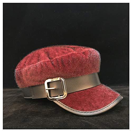 LHZUS Sombreros Las Mujeres Cloche Sombrero de la Boina del Casquillo del Vendedor de periódicos Señora Elegante Sombrero de Fascinator Octagonal del Sombrero del Visera del Sombrero 56-58cm Tamaño