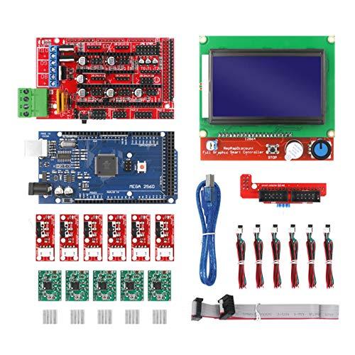 Hellery 3D Printer Ramps 1.4 Controller & MEGA2560 R3 & A4988 with Heatsink