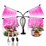 WAKYME LED Grow Lights for Indoor Plants, Full Spectrum Plant Lights with Auto ON/Off 2/8/12H Timer, for Indoor Succulent Plants Growth