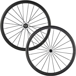 JIMAITEAM 29er Mountain Bike Carbon Wheelset Clincher Tubeless Ready 35mm Width Rim AM Disc Brake Wheels