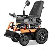 ZYK Lightweight Foldable Electric Wheelchair for Adults, Compact Durable Wheelchair,Dual Battery, Dual Motorized Electric Wheelchair Lithium Battery Folding Lightweight Intelligent Elderly