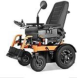 Hammer Ligera eléctrica plegable de la silla de ruedas for adultos, compacta silla de ruedas duradero, batería dual, dual motorizado Silla de ruedas eléctrica plegable de la batería de litio ligera in