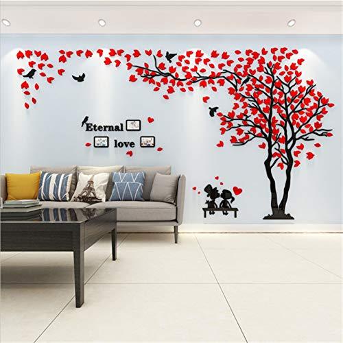 GHJGHJ Etiqueta engomada de la Pared Decoración del árbol Art Fondo de TV Fondo de Pantalla Decoración del hogar Sala de Estar Pegatinas (Color : C15 Red Right, Size : XL 2X4m)