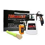 Tornador Z-020 Black Professional Cleaning Gun Starter Kit with 2oz. Enzyme Cleaner and Grime Grabber Boars Hair Detailing Brush