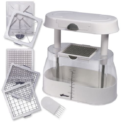 Weston Fruit and Veggie Multi-Chopper (83-2014-W) with 3 Stainless...
