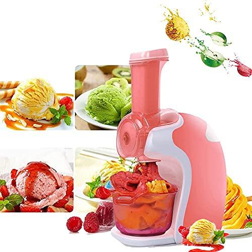 Máquina para hacer helados para el hogar - Máquina para hacer helados blandos con compresor Heladera portátil, operación con un botón que hace que el helado sea un buen ayudante