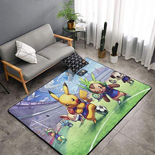 Alfombra de cocina con diseño de Poke-mon de anime de Matt Flowe de fibra de poliéster suave, 6 x 9 pies Poke-mon para dormitorio