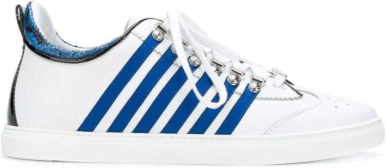 DSQUARED2 Herren SNM000801501208M313 Weiss/Blau Leder Sneakers B07HQP6P3W  | In hohem Grade geschätzt und weit vertrautes herein und heraus