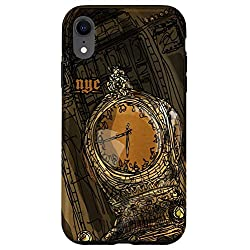iPhone XR NYC Wall Art Vintage Clock Historic New York Architecture Case