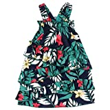 Pet Dog Girl Dress, Hawaiian Floral Print Ruffle A Line Dog Dress, Dog Summer Dress for Small Medium Dogs Girl Medium, Green
