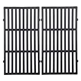 GGC 17.5' Grill Grates for Weber 7637 Spirit E/S-210 E/S-210 200 Series Gas Grills with Front Control Panel,Cast Iron Cooking Grid(2013-2016)