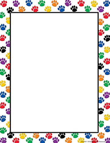 Teacher Created Resources Colorful Paw Prints Computer Paper (4769), Multicolor
