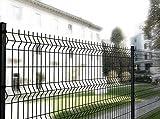 Italfrom 2288 Panneau de clôture modulaire, grille en acier soudé, anthracite, médium 200x(H) 172cm