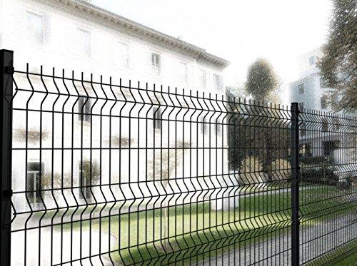 Italfrom 2285 Panneau de clôture modulaire, grille en acier soudé, anthracite, médium 200x102Hcm
