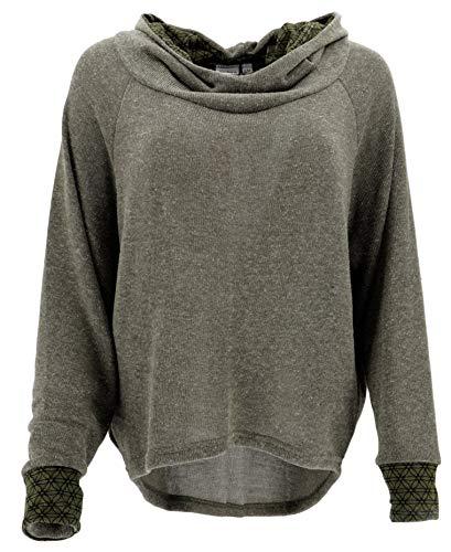 Guru-Shop Hoody, Sweatshirt, Pullover, Kapuzenpullover, Damen, Khakigrün, Baumwolle, Size:S/M (38), Pullover, Longsleeves & Sweatshirts Alternative Bekleidung