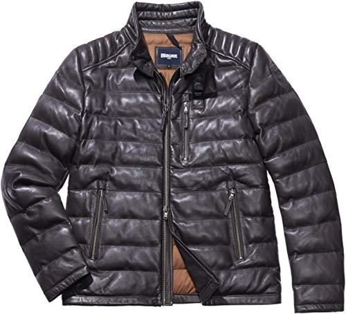 Blauer USA Mario - Giacca in pelle grigio Anthrazit m