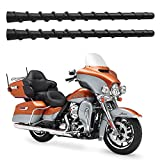 8 inch Black Rubber Replacement Antenna for 1989-2021 Harley Davidson Touring Electra Glide CVO Pack of 2