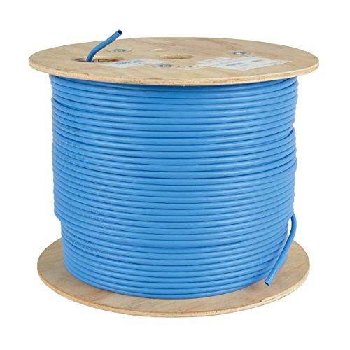 TRIPP LITE Cat6a 10G Bulk Solid-Core Cable, CMR-Rated PVC, Blue, 1000' (N223-01K-BL)