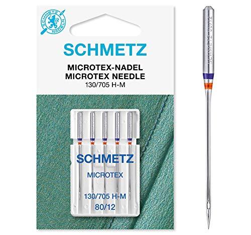Schmetz Agujas para máquina de coser, Microtex, tamaño: 80/12
