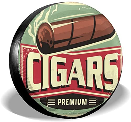 Cigarros Store - Cubierta para llantas de repuesto,poliéster,universal,de 14 pulgadas,para llantas de repuesto para remolques,vehículos recreativos,SUV,ruedas de camiones,camiones,caravanas,accesorio