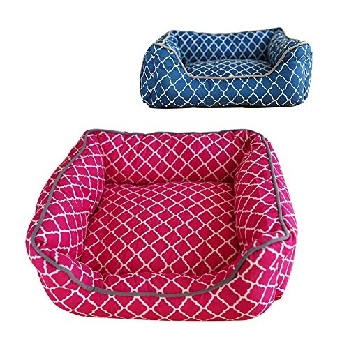 PET BABY Hundebett Hundekissen Hundekorb Hundesofa Hundedecke Katzenbett Tierbett Matte (91 x 68 x 20, Pink)