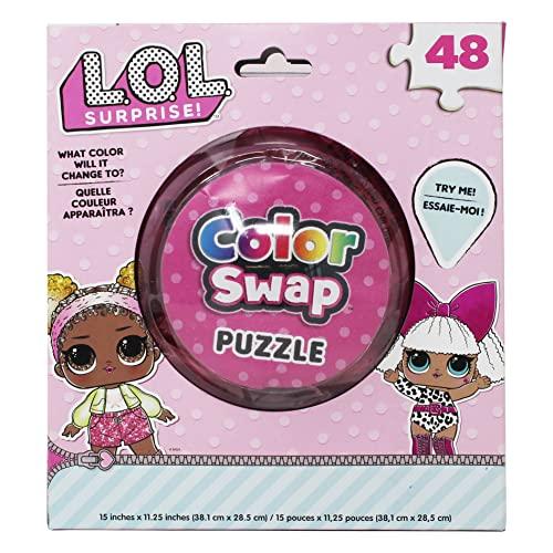 Spin Master Games L.O.L. Surprise! 48Piece Color Swap Puzzle, Multicolor (6053487)