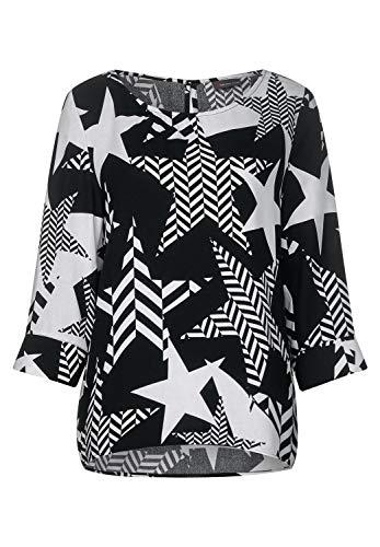 Street One Damen 341755 Bluse, Black, (Herstellergröße:40)