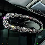 Valleycomfy Bling Car Mirror Accessories for Women colorful Rhinestone Car Rearview Mirror Accessories Diamond Rear View Mirror Cover for Women