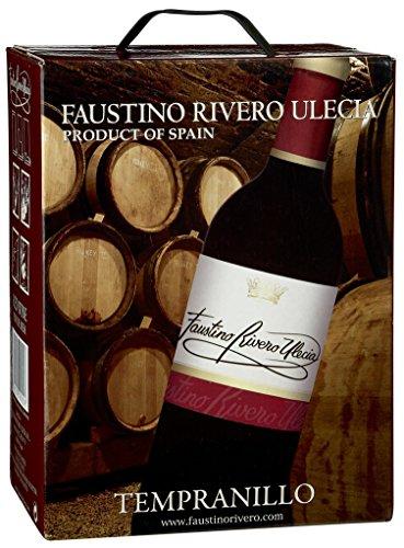 Faustino Rivero - Ulecia Tempranillo VdM Rotwein 12{0920898598ca4967cca3b245ba51317112f37aca6d604d21da5e2c17b82bb4c0} Vol. - 5-l-Bag in Box