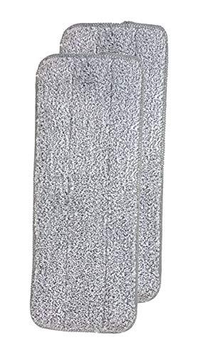 BEST DIRECT Autoclean Mop Original Visto en TV - Set de Mopa y Cubo de 2 Compartimientos - Autolimpieza Tejido de Microfibra para la Limpieza del Hogar Baño Piso Rústico Madera (2 MOPAS DE MICROFIBRA)