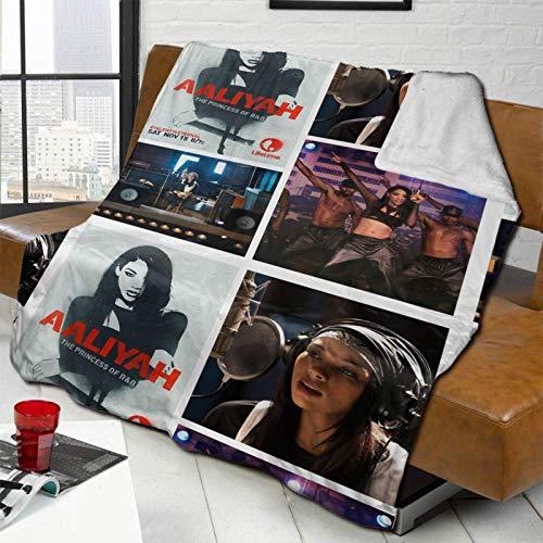 Tengyuntong Manta Ultra-Soft Micro Fleece Aaliyah Lifetime Collagesoft, cálido y cómodo Cordero, sofá, Ropa de Cama 80 X 60