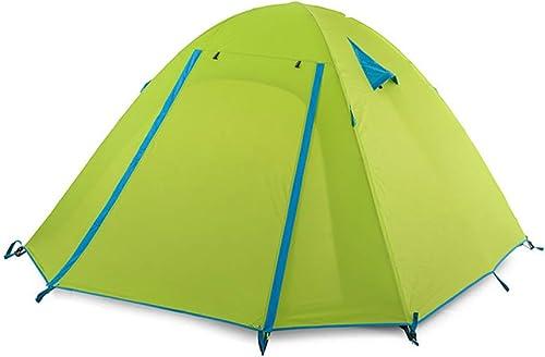 YANABC Tente de Camping Loisirs en Plein air Hiver Double imperméable Tente de Voyage Ultra-léger
